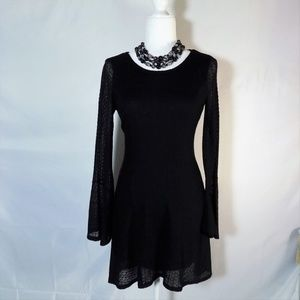 Altar'd State Black Stretch Lace Dress Small